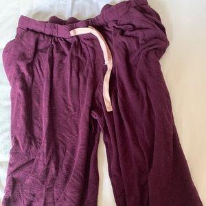 Burgundy/Pink/Grey Sweatpants